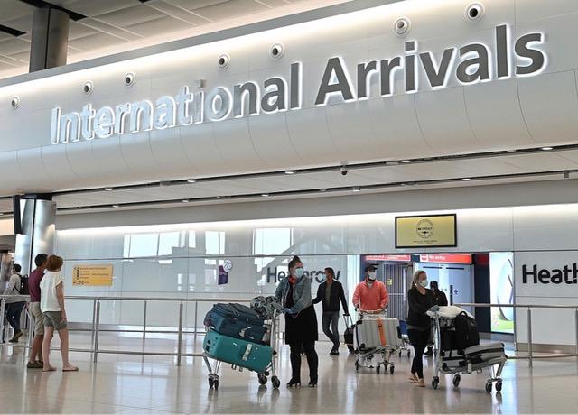 International airport arrivals